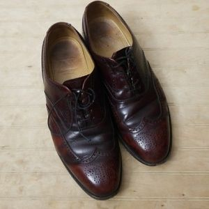 Johnston and Murphy Oxblood Wingtip Oxford